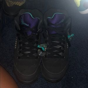 Air Jordan 4s Black Grapes Purple/Teal sz 4.5
